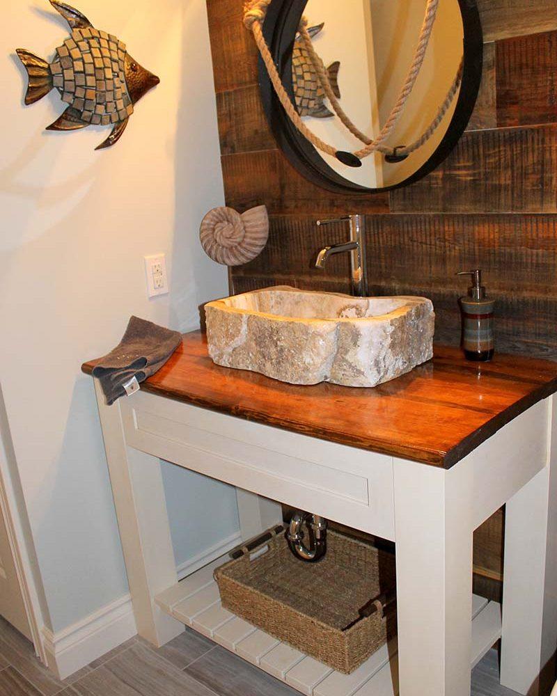 Wood Top Bathroom Vanity