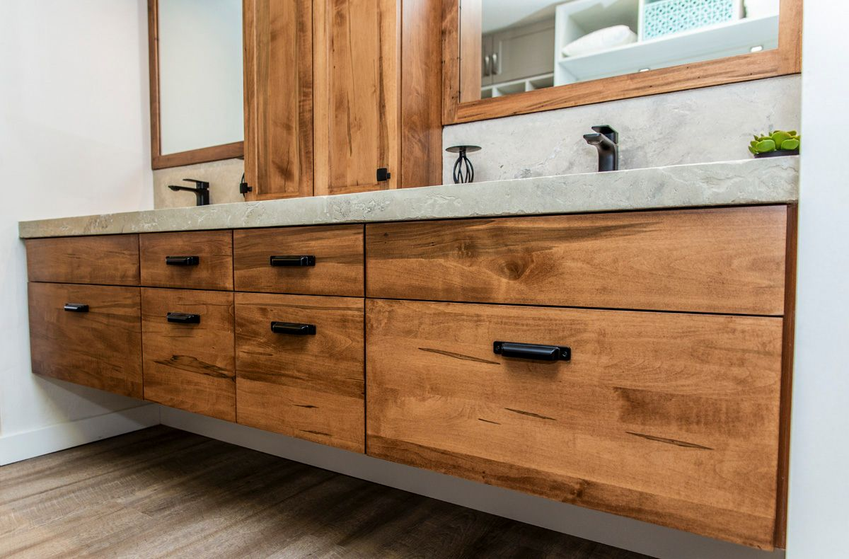 Double Sink Bathroom Vanity Drawers and Mirrors North Bay