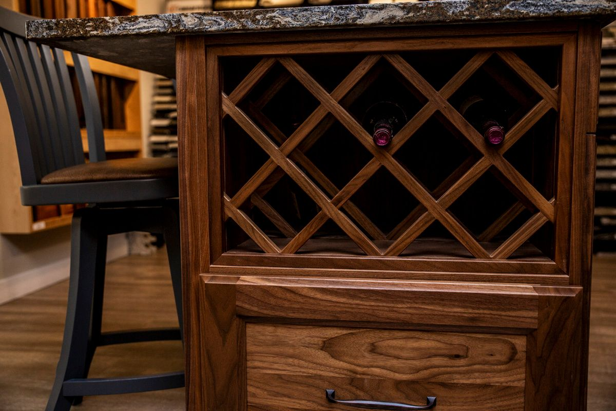 Custom Cabinetry Wine Rack by Dowdal Cabinets in North Bay